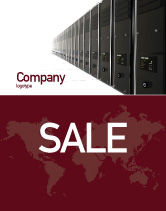 Technology, Science & Computers: Server Room Sale Poster Template #03161