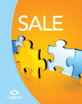 Abstract/Textures: Jigsaw Chain Sale Poster Template #03165
