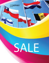 Flags/International: United Nations Sale Poster Template #03169