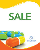 Medical: Colored Pills Sale Poster Template #03191