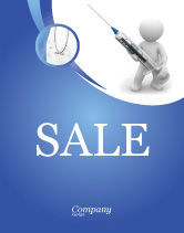 Medical: Stickman With Syringe Sale Poster Template #03199