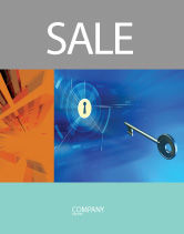 Technology, Science & Computers: Key Of Blue Door Sale Poster Template #03237