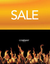 Abstract/Textures: Fire Sale Poster Template #03282