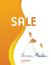 Agriculture and Animals: Jumping Goldfish Sale Poster Template #03286