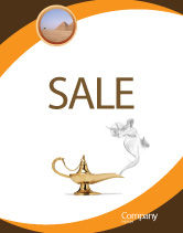Art & Entertainment: Genie Lamp Poster Template #03289