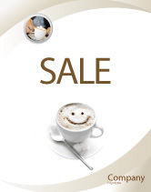 Food & Beverage: Cappuccino Cup Sale Poster Template #03298