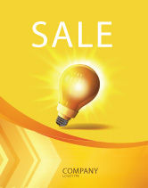 Business Concepts: Bright Idea Sale Poster Template #03307