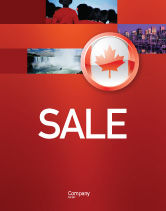 Flags/International: Canada Sign Sale Poster Template #03308