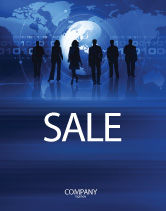 Global: People Silhouettes Sale Poster Template #03312