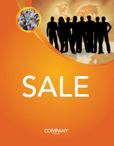 Consulting: Silhouettes Of People's Sale Poster Template #03317
