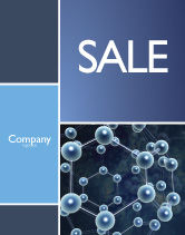 Technology, Science & Computers: Molecular Structure Sale Poster Template #03327