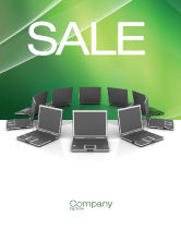 Technology, Science & Computers: Business Network Sale Poster Template #03336
