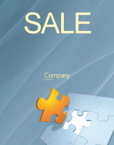Business Concepts: Piece of Puzzle Sale Poster Template #03338