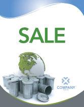 Nature & Environment: Refuse Bin Sale Poster Template #03371