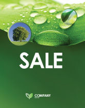Abstract/Textures: Fresh Dew On The Green Leaf Sale Poster Template #03376