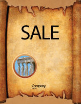 Abstract/Textures: Scroll Sale Poster Template #03378