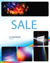 Technology, Science & Computers: Prism Sale Poster Template #03386