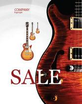 Art & Entertainment: Semi Acoustic Guitar Sale Poster Template #03419