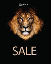 Agriculture and Animals: Lion With Red Mane Sale Poster Template #03428