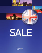 Flags/International: United Kingdom Sale Poster Template #03448