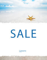 Nature & Environment: Starfish Sale Poster Template #03456