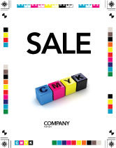 Careers/Industry: CMYK Sale Poster Template #03474