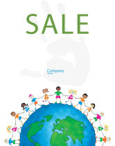 Global: Friendship And Unity Sale Poster Template #03475