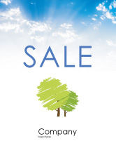 Nature & Environment: Greenery Sale Poster Template #03479