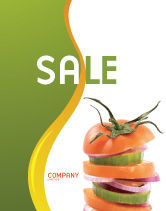 Food & Beverage: Fresh Vegetables Sale Poster Template #03490
