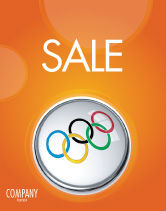 Sports: Olympic Symbol Sale Poster Template #03512