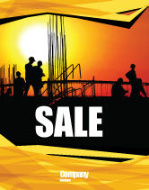 Construction: Builders Sale Poster Template #03530