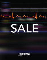 Medical: Electrocardiography Sale Poster Template #03538