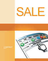 Technology, Science & Computers: Browser Sale Poster Template #03548