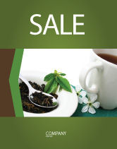 Food & Beverage: Green Tea Ceremony Sale Poster Template #03551