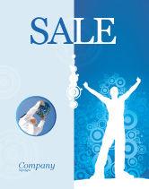 Business Concepts: Creativiteit In Het Blauw Poster Template #03561