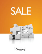 Business Concepts: Business Puzzle Sale Poster Template #03587