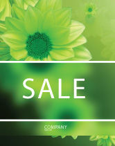 Abstract/Textures: Green Flowers Sale Poster Template #03594