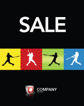 Sports: Baseball Bat Hit Sale Poster Template #03612