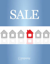 Construction: Typical House Of Suburban Icon Sale Poster Template #03620