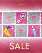 Education & Training: Baby's Room Theme Sale Poster Template #03622