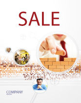 Construction: The Wall Sale Poster Template #03630