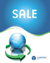 Global: Restoring World Sale Poster Template #03636