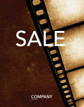 Careers/Industry: Movie Strip Sale Poster Template #03652