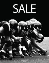 Sports: American Football Dallas Cowboys Sale Poster Template #03653