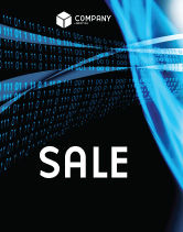 Technology, Science & Computers: Digital Stream Sale Poster Template #03656