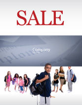 People: Secondary Schoolboy Sale Poster Template #03662