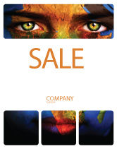 Global: Face of Earth Sale Poster Template #03663