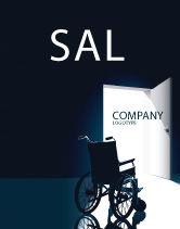Medical: Modèle d'Affiche de fauteuil roulant #03665