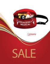 Medical: Medical Kit Sale Poster Template #03674