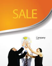 Business Concepts: Global Partnership Sale Poster Template #03682